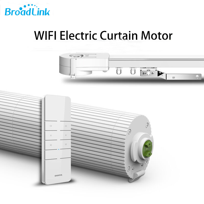 Broadlink DNA Dooya DT360E Electric Curtain Motor With Hight Quality Curtain Track, IOS Android WIFI Remote Control Smart Home ewelink dooya electric curtain system curtain motor dt52e 45w remote control motorized aluminium curtain rail tracks 1m 6m