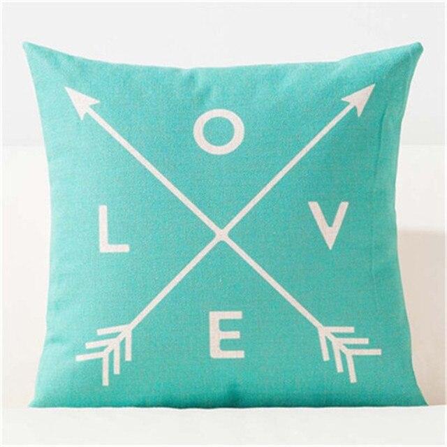 Nordic Scandinavian Geometry Pillows Case Geometric Decoration Throw Pillow Cushions Cover Rectangle Blue Black Leaf Dear Pillo