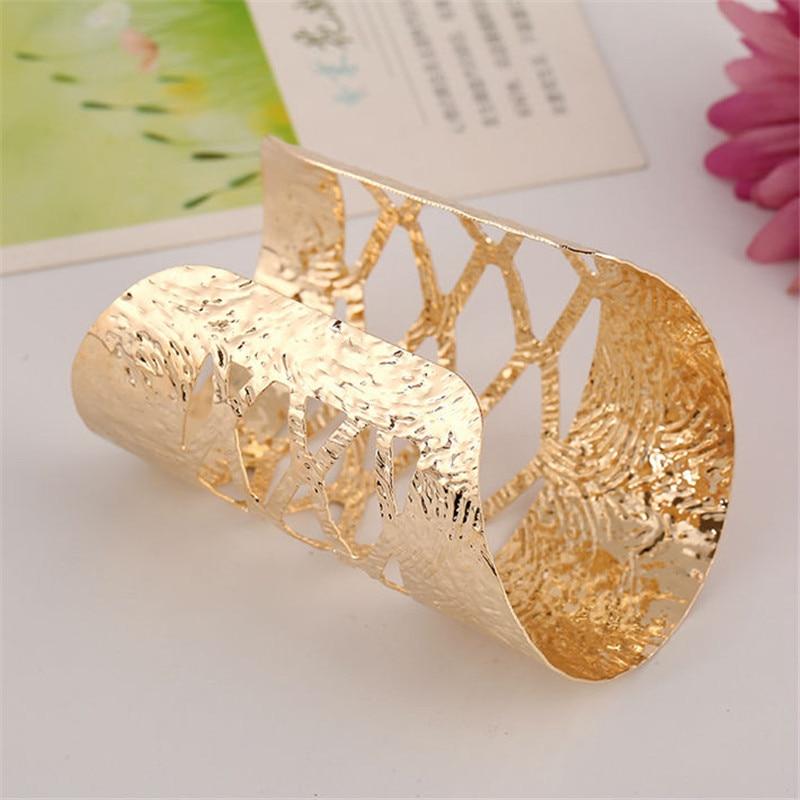 Silver Gold Oval Ethnic Boho Geometric Egyptian Big Bracelet Bangle Jewellery