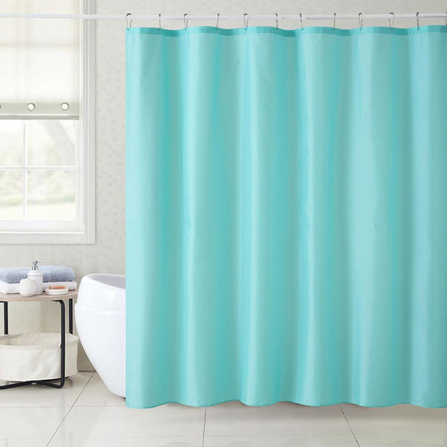 180X180CM Plain 5Color Elegant Waterproof Polyester Fabric Shower Curtain Liners For Bathroom Super Thicken Mildew Free Washable