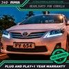 Car Styling for Toyota Corolla Headlights 2011 Corolla LED Headlight DRL Bi Xenon Lens High Low Beam Parking Fog Lamp