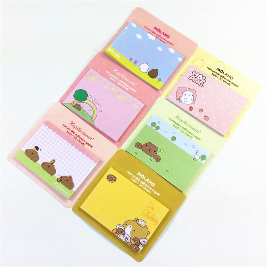 1pcs/lot NEW rabbit & Piggy Notepad sticky note Memo message post Removable adhesive paper