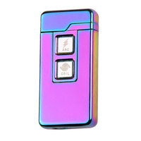 New Arc Dual Purpose Touch Induction Ignition Windproof Pulsed Plasma Lighters USB Rechargeable Electric Cigarette Lighter