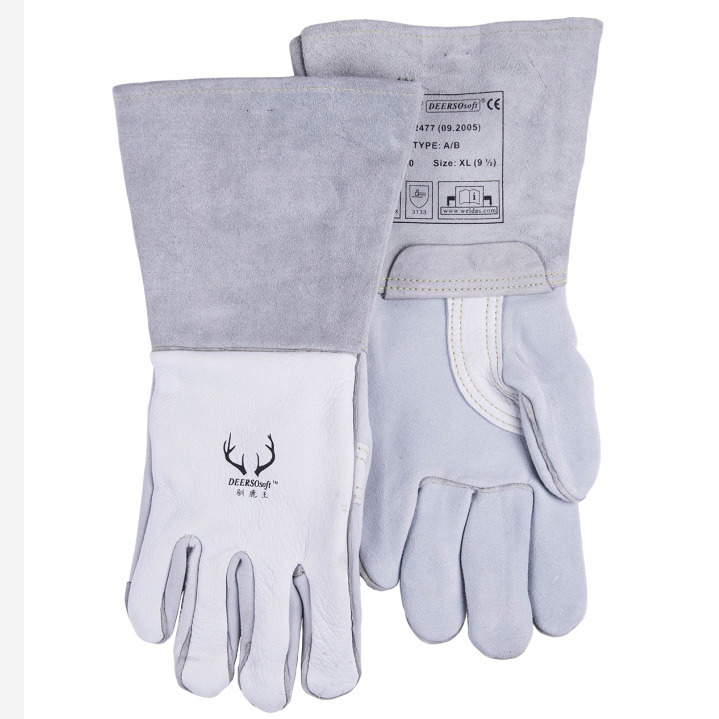 Deerskin Leather Work Gloves TIG MIG Grain Cow Leather Welding Glove бра artelamp a5349ap 1wh page 3