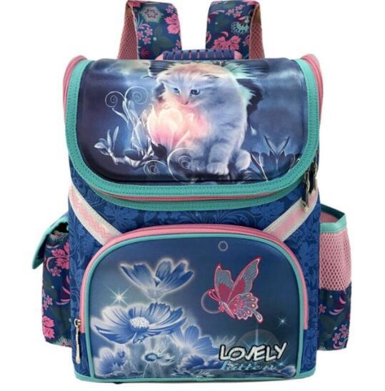 Класс 1-3-5 принцесса девушка рюкзак школьный Новые Детские с рисунком кота Детский рюкзак ортопедический школьная сумка для девочек