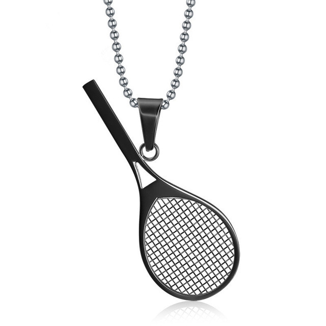 Necklace wind ornaments new listing tennis racket pendant 3 color necklace wind ornaments new listing tennis racket pendant 3 color stainless steel pendant jewelry necklaces aloadofball Choice Image