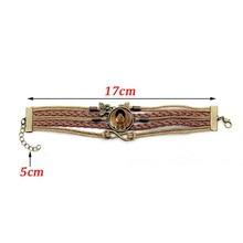 Gimayer Egyptian scarab time handmake Crystal bracelet Multilayer hand-woven glass combo Women Bracelets