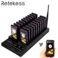 RETEKESS T112 restaurante localizador inalámbrico 433,92 MHz camarero sistema de llamada 20 llamada timbre busca café cola Sistema de Gestión
