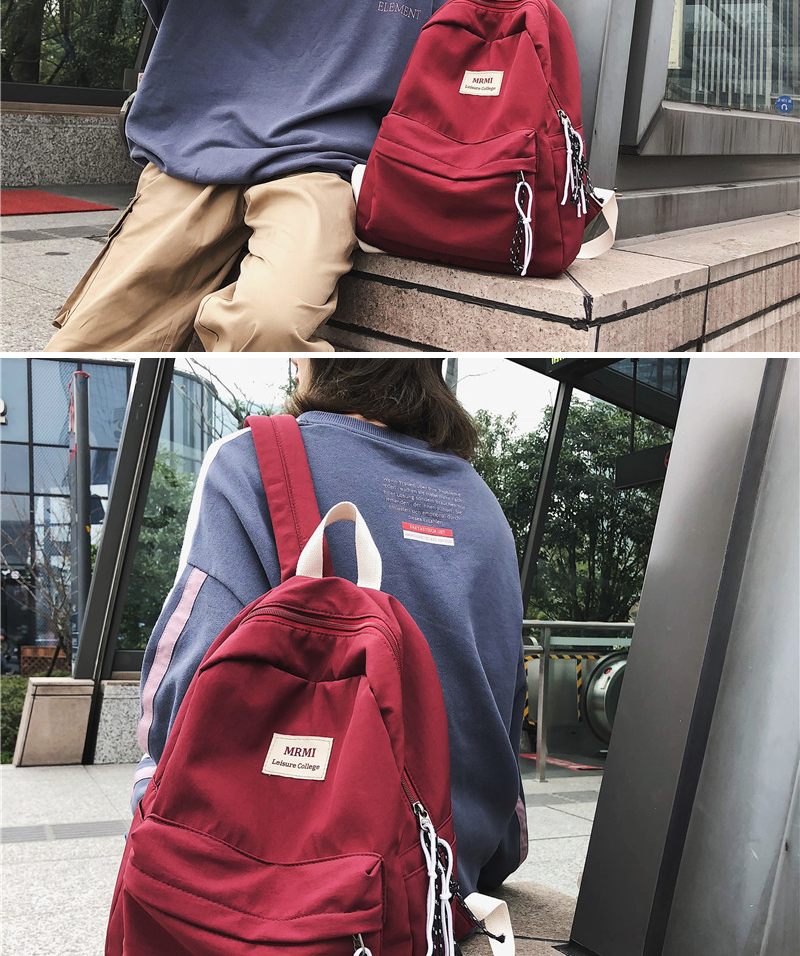 HTB18bfGN9zqK1RjSZFLq6An2XXa9 DCIMOR Solid color Women backpack Retro Fashion Waterproof Nylon Backpack School Bags For Teenagers Mochilas Travel Backpacks