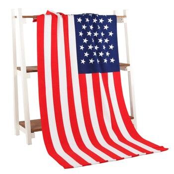 Пляжные Полотенца флаг США Флаг Великобритании микрофибры Ванна Полотенца для взрослых reactived печатных пляжное Полотенца сушки Toalla Ванная к...