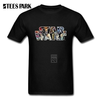 Casual T Shirts 3XL Star Wars Character Logo Male O Neck Short Sleeve T Shirt For
