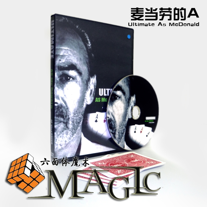 Ultimate As Mc Donald JP vallarino / close-up stage street card magic tricks products wholesale free shipping