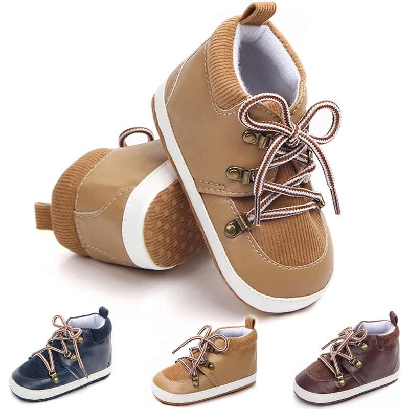 Baby Shoes Spring PU Suede Lace Casual Baby Boy Shoes Fashion Cotton First Walker Gentleman Baby Boy Shoes