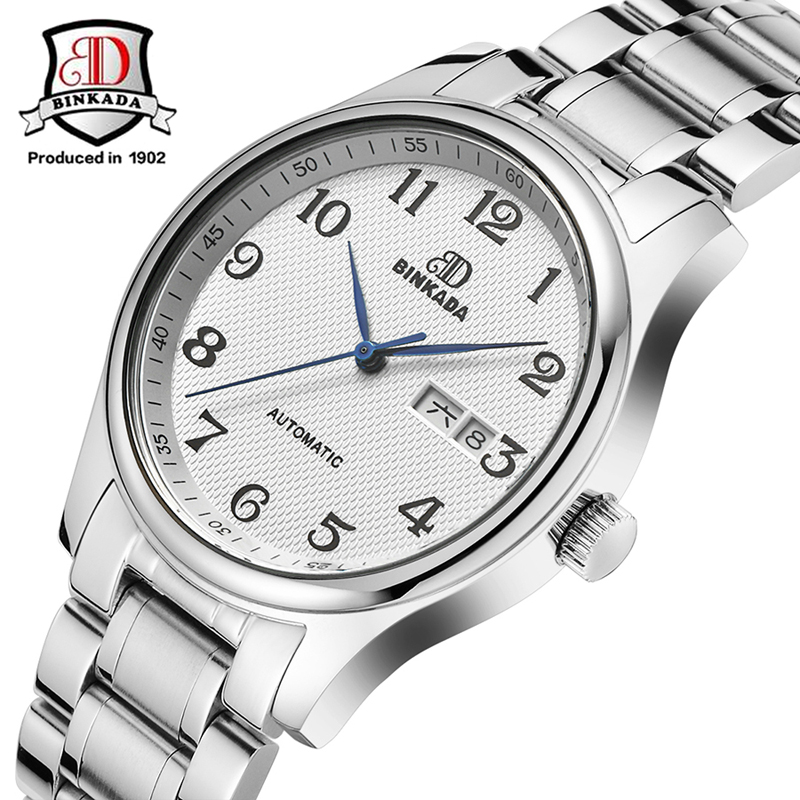 2017 New automatic Mechanical Watches male Business Watches Men Luxury Brand BINKADA Wristwatches Gold Black Casual clock hours luxury gold watches burei men s luxury brand automatic mechanical watch fashion casual clock male casual business wristwatch