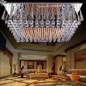 Luxo frete grátis cristal retangular minimalista e moderno levou teto 100% de garantia de qualidade luzes de teto L900xW700xH240mm
