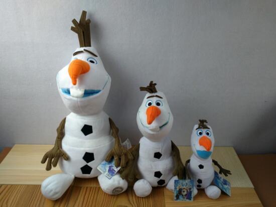 Olaf Marioneta Mascota Noel Navidad 50CM Boneco Knuffel Snowman Soft Toys Princess Elsa Anna Olaf Sven Favor Kristoff Trolls hc mascota