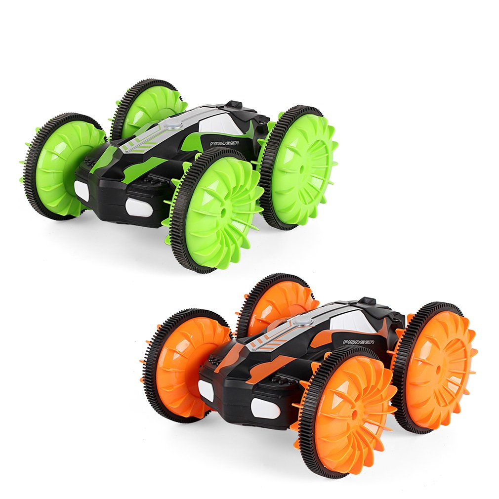 LH-C013 2.4G Off Road Racing Climbing Truck Amphibious RC Stunt Car Waterproof 4WD Toy Remote Control 360' Rotation LED Light