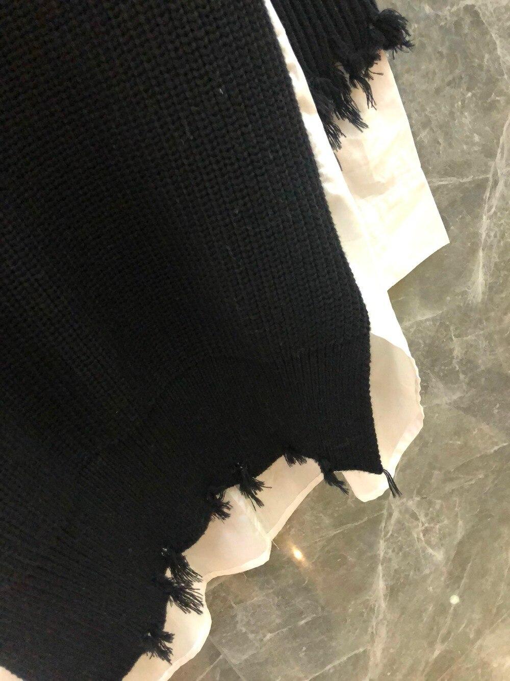 Femmes Nouveau Tricoté Laine Printemps Robe Patchwork Xiaoxiao 2019 Casual lKJu31cTF