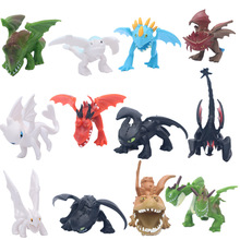 12Pcs Dragon Toothless Action figure Light Fury Toys For Childrens Birthday Gifts