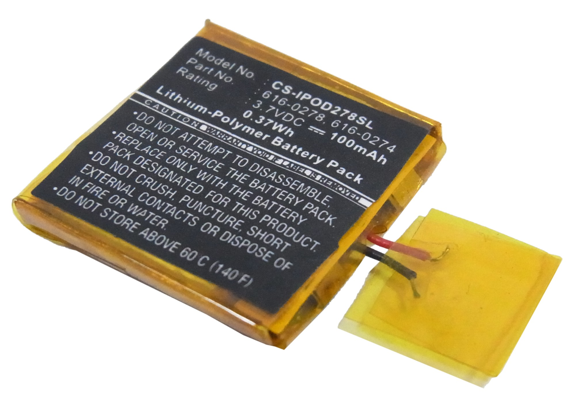 Cameron Sino UPGRADE For Apple 616-0274,616-0278 MP3, MP4, PMP Battery(China)