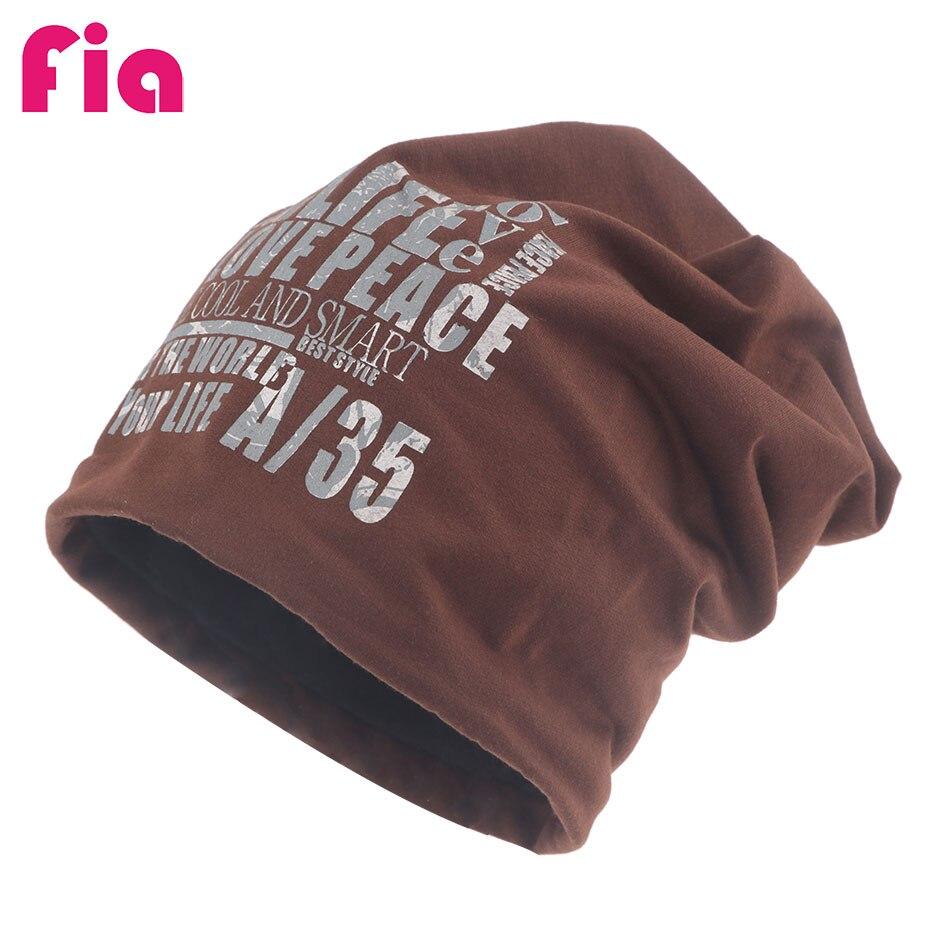 FIA Cotton Beanie Chemo Hats Skullies Beanies Hats   Caps Men HatsKorean Hat  Black Beanie Durag ffe9a491f54