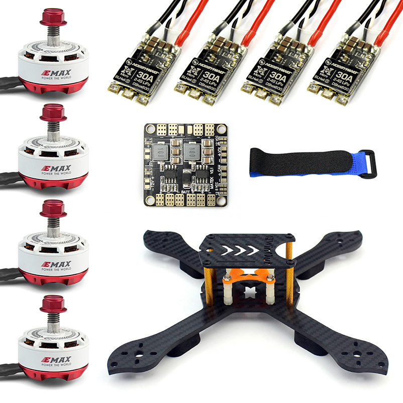 X Shape Frame RS2306 2400KV Brushless Motor 30A ESC 2S-4S with PDB for FPV Racer Dshot Drone Multicopter DIY Drone Kit 210mm xxd 4pcs a2212 1000kv brushless motor with 4pcs 30a esc for multicopter quadcopter