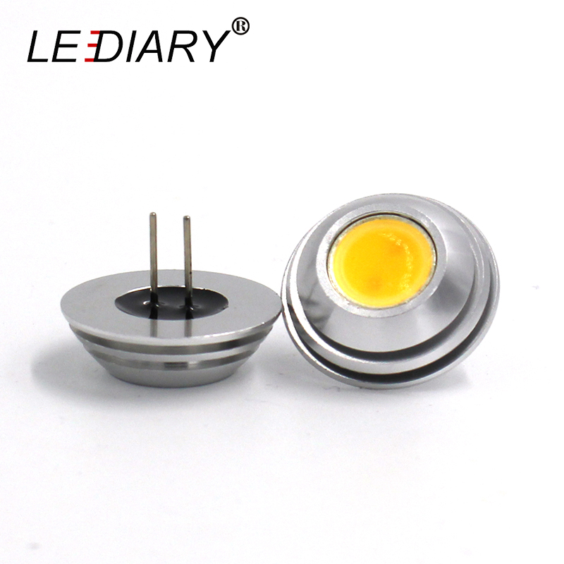 LEDIARY 5 teile/los G4 Super Helle UFO Regenschirm Geformte Downlight <font><b>LED</b></font> G4 Licht Mini Mais Birne DC12V COB <font><b>LED</b></font> Hohe power Rohr 25*18mm image