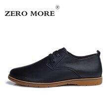 Zero больше мужчин Мода 2017 г. итальянский дизайнер обувь дышащая натуральная кожа роскошные Мужская обувь 2 цвета Размеры 38–44
