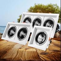 2pcs Super Bright Recessed Square White LED Dimmable Downlight COB 10w 20W 30w LED Spot Light