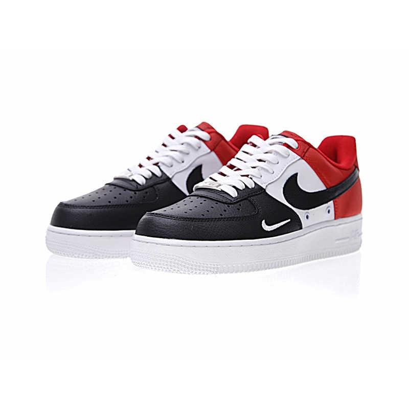 Оригинальный Nike Оригинальные кроссовки Air Force 1 Низкий мини Swoosh Мужская обувь для скейтбординга спортивные уличные кроссовки 2018 Новое поступление 823511-603