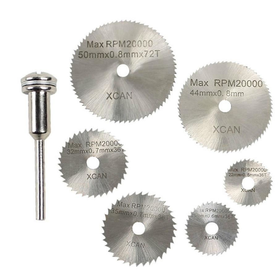 7 vnt. HSS sukamaisiais įrankiais su diskiniais pjūklais Pjovimo - Elektrinių įrankių priedai - Nuotrauka 1