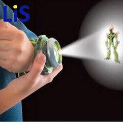 Lis 2018 Venda Quente Ben 10 Estilo Japão Relógio Projetor BAN DAI Genuine Brinquedos para As Crianças Crianças Pulseira de Slides gota