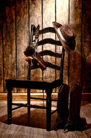 TOP ART WORK Painting American West Art Cowboy Hat Boot Print Oil Painting On Canvas Accept