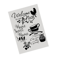 A4 Size DIY Craft Layering Stencil Template For Wall Furniture Painting Decor Scrapbooking Stamping Embossing Paper Cards