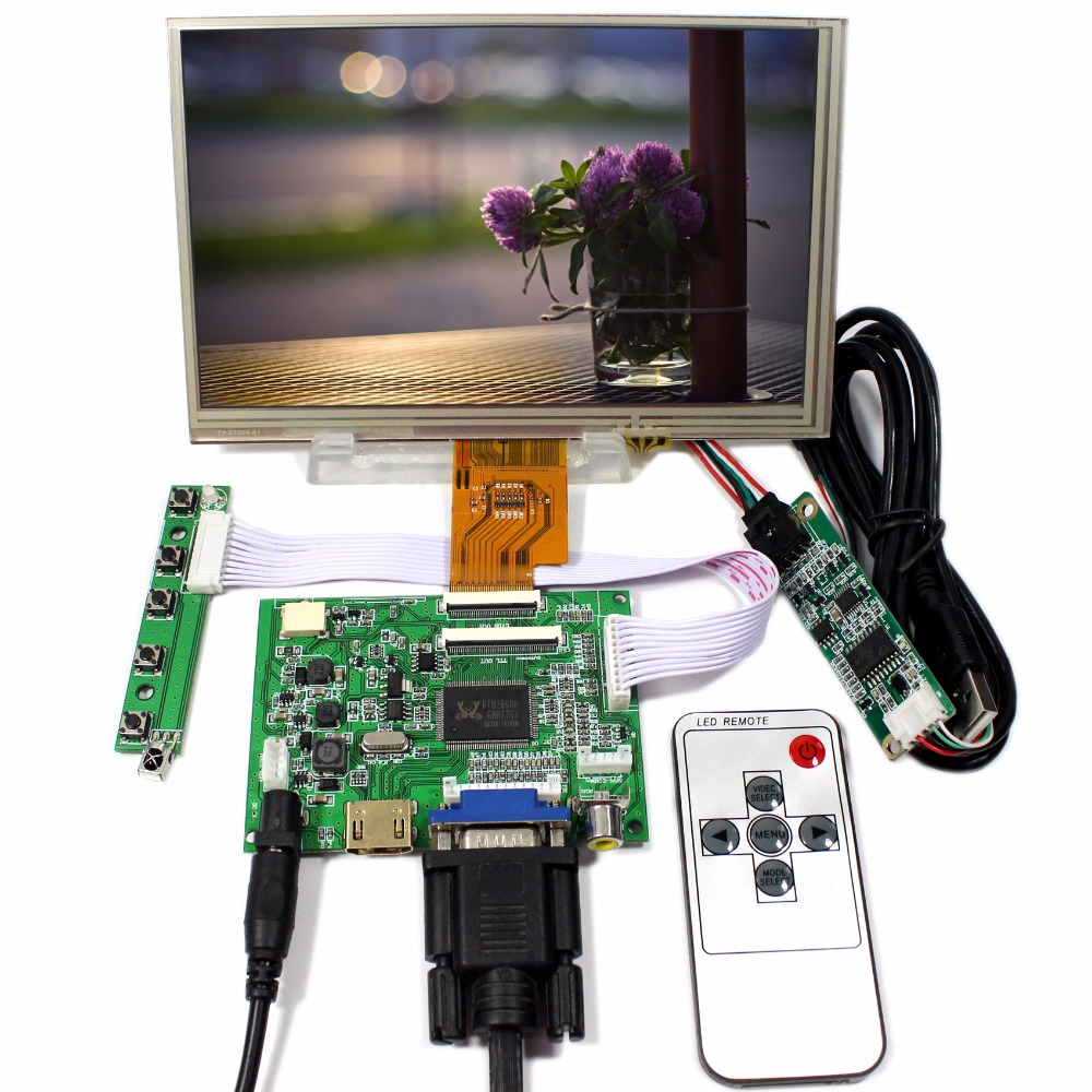 HDMI VGA 2AV LCD Controller Board VS-TY2662-V2 7 AT070TNA2 1024x600 Touch LCDHDMI VGA 2AV LCD Controller Board VS-TY2662-V2 7 AT070TNA2 1024x600 Touch LCD