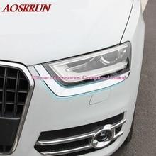 Car headlights decorative light strip retrofit dedicated exterior for Audi Q3 2013-2015 3D stickers accessories car-styling AUTO