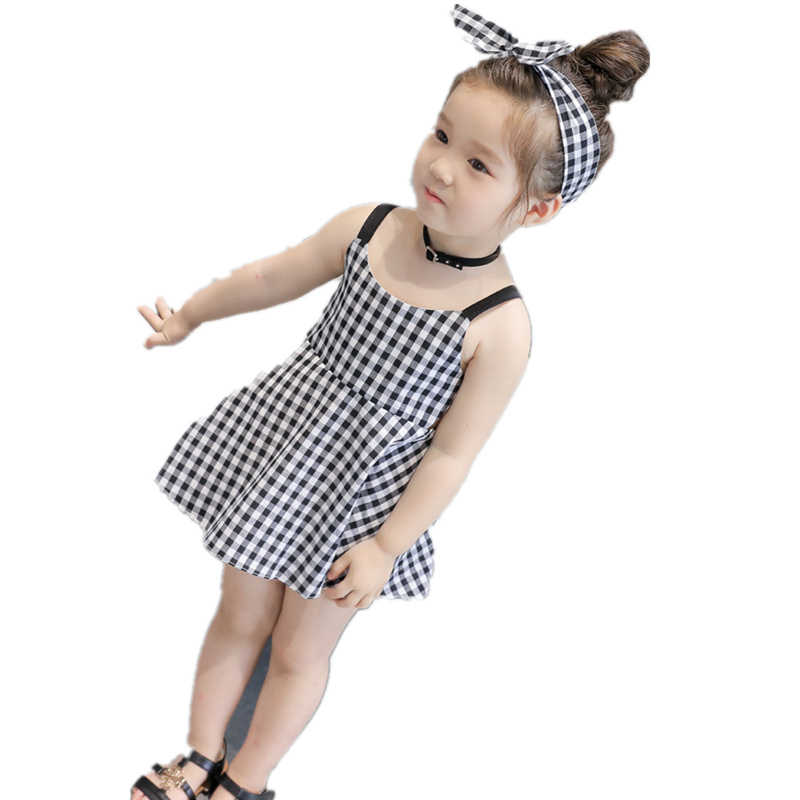 Hot Sale Summertime Baby Girls Dresses Fashion Casual Children S Clothes Sleeveless Cute Beach Princess Dress Korean Kids Wear Korean Kids Wear Kids Wearfashion Girl Dress Aliexpress