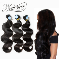 NEW STAR 3 Bundles Brazilian Body Wave Unprocessed Thick Soft Natural Color Cuticle Intact Virgin Human Weave Hair Extension