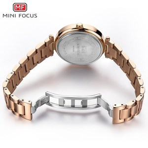 Image 4 - MINI FOCUS Women Crystal Gold Watches Ladies Famous Top Brand Luxury Quartz Watch Female Clock Montre Femme Relogio Feminino