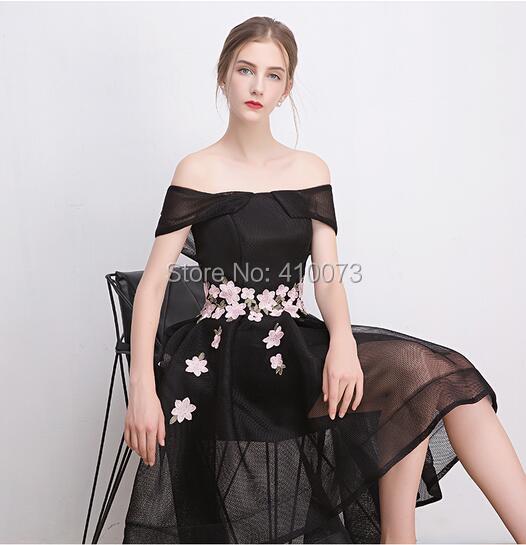 25950d4334 Beautiful Style Short Sleeve Black Homecoming Dress Designer High ...