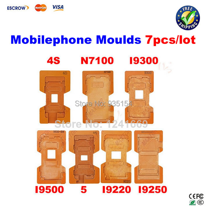 ФОТО 7 pcs screen Mould Molds for cellphone of LCD Touch Screen Separator for Samsung/Iphone/HTC/Nokia, lcd separator tool