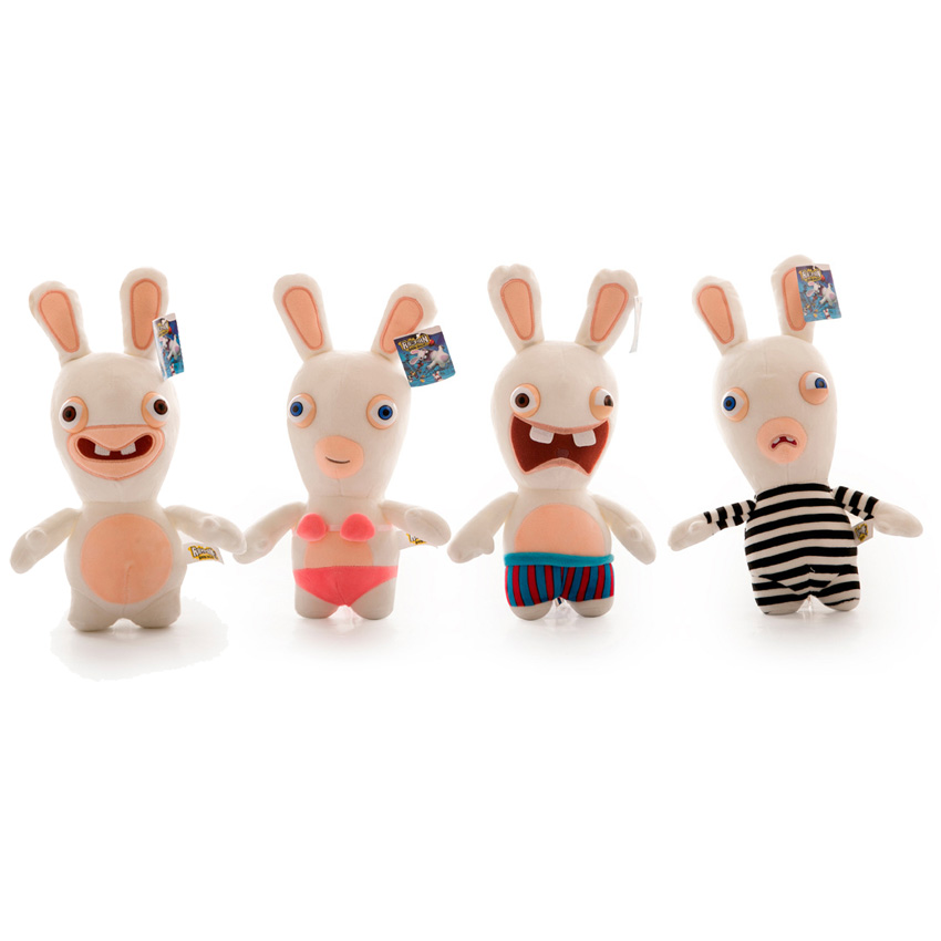 4pcsset rayman raving rabbids plush doll soft stuffed toy 20cm - Raving Rabbids Halloween Costume