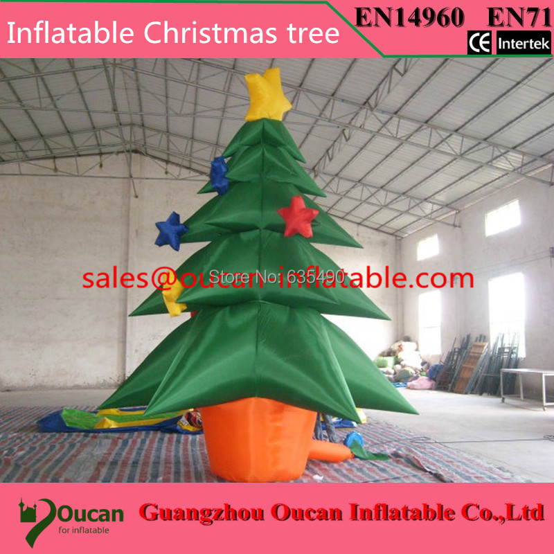 Factory sale 3m height santainflatable Christmas tree for party decoration