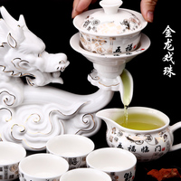 hot Hot Sale China KongFu Teapot tea sets Useful 8 Person Chinese style Tea Pot Lazy Tea Sets with China 12 animals designing