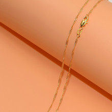 1pcs Wholesale  Gold Filled Necklace Fashion Jewelry Water Wave Link Chain 2mm Necklace 16-30 Inches Pendant Chain