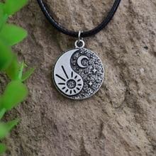 Санлан день и ночь ожерелье солнце и луна кулон с цепочкой Инь-Ян Луна и ожерелье «солнце» звезда ювелирные изделия