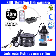 20Meters Depth 360 Degree Rotative Underwater fishing Camera with 18pc LED for Fish Finder & Diving Camera Application
