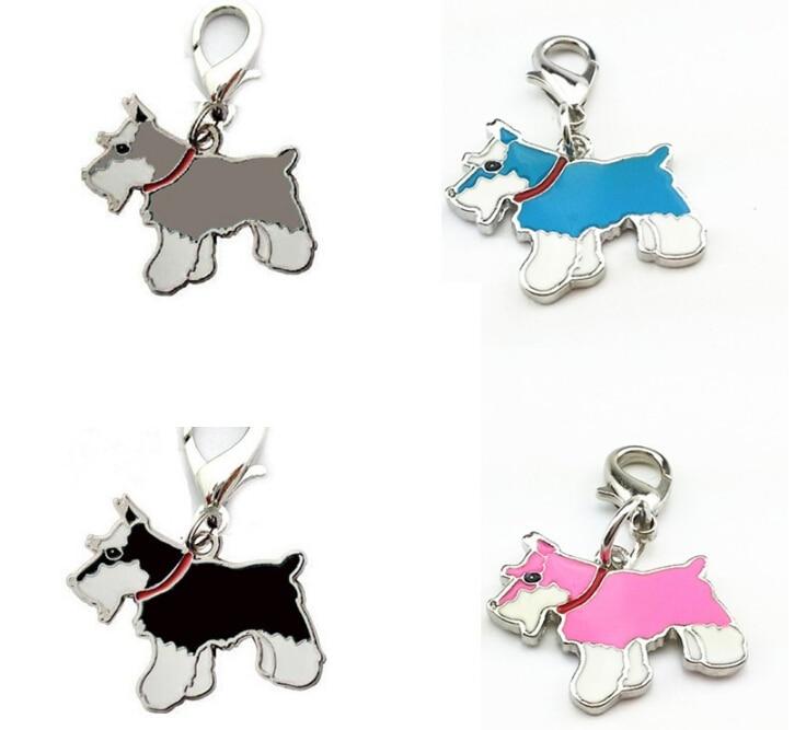 5pcs/lot Schnauzer Dog Charms for Bag DIY Pet Dog Pendant Handbag Charms Animal Charms for Jewelry Making