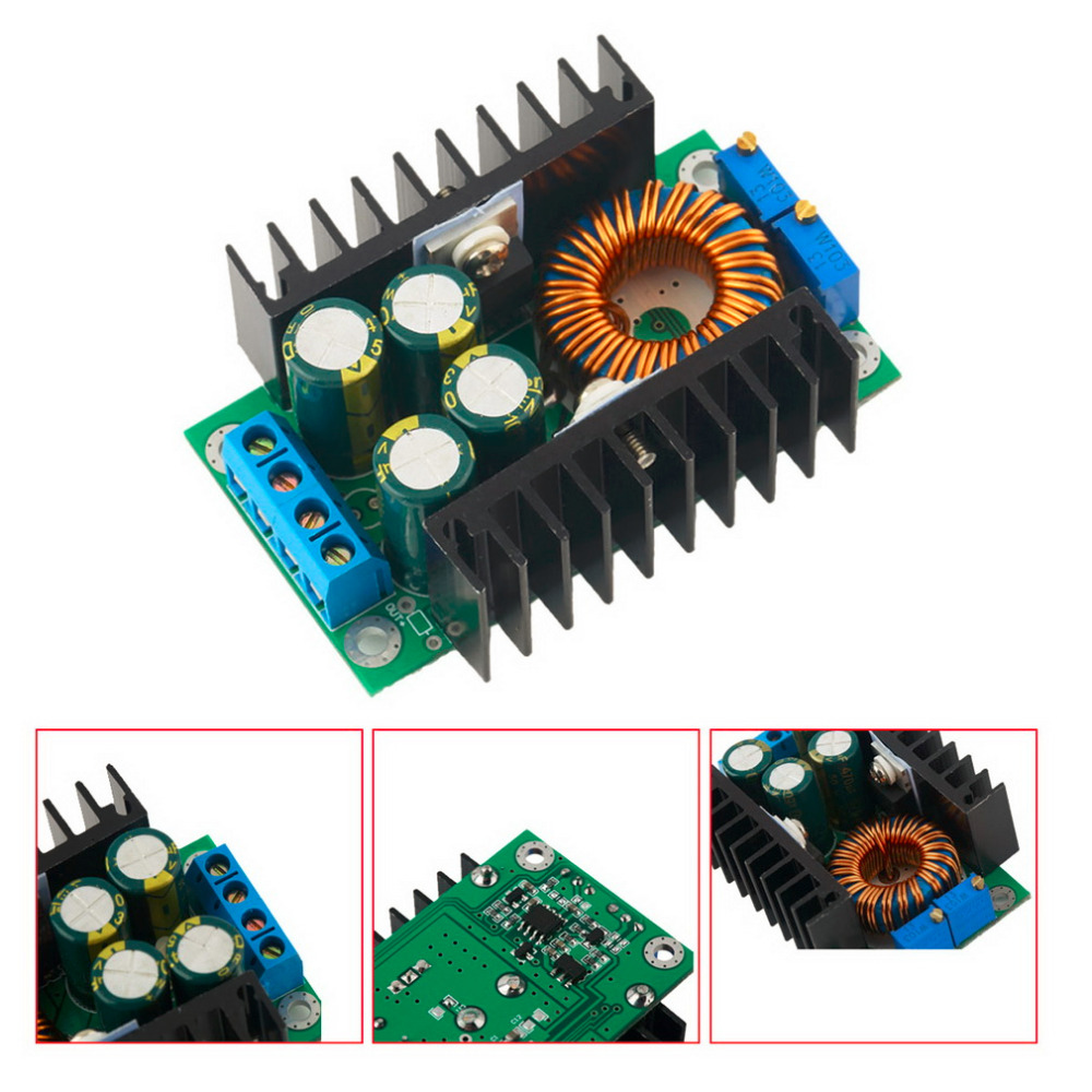 1pcs Professional Step-down Power DC-DC CC CV Buck Converter Supply Module 8-40V To 1.25-36V 12A Adjustable 1pcs lm2596 dc dc step down adjustable cc cv power supply module led driver