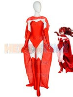Sexy Scarlet Witch Cosplay Costume Female Super Spandex Cosplay Zentai Suit Halloween costume for woman